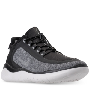 Men'S Free Rn 2018 Shield Running Sneakers From Finish Line in BlackMetallic Silver Coo