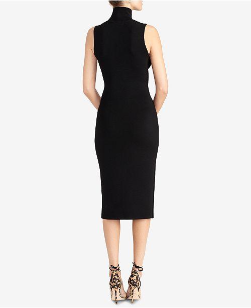 Turtleneck bodycon dress sleeveless