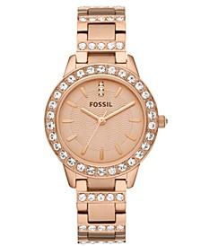 Women's Jesse Rose Gold-Tone Stainless Steel Bracelet Watch 34mm ES3020