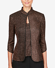 Alex Evenings Metallic Jacket & Top Set