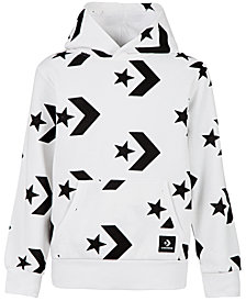 Converse Big Boys Chevron Star Printed Hoodie