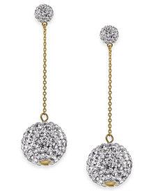 kate spade new york Gold-Tone Pavé Orb Linear Drop Earrings
