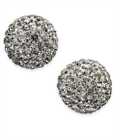 kate spade new york Gold-Tone Pavé Orb Stud Earrings