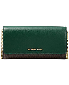 MICHAEL Michael Kors Signature Multi Function Wallet On A Chain