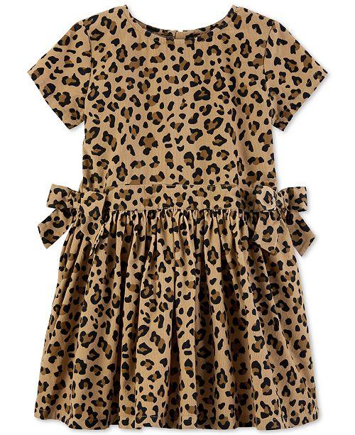 Carter s Toddler Girls Cheetah-Print Cotton Dress  Carter s Toddler Girls  Cheetah-Print Cotton ... c3b0a616d