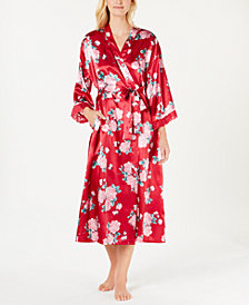 Thalia Sodi Floral-Print Long Wrap Robe, Created for Macy's