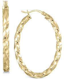 Twist Hoop Earrings in 18k Gold over Sterling Silver