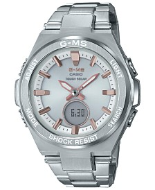G-Shock Women's Solar Analog-Digital Stainless Steel Bracelet Watch 38.4mm