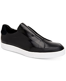 Calvin Klein Men's Immanuel Leather Slip-On Sneakers