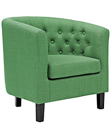 Modway Prospect Upholstered Fabric Armchair