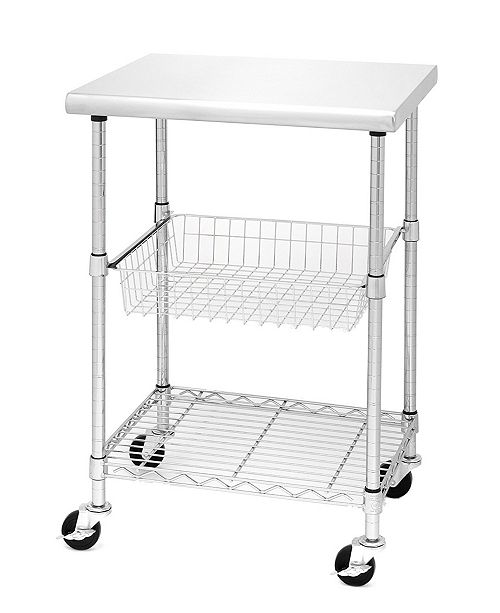 NSF Stainless Steel Kitchen Work Table Cart