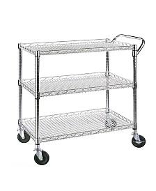 Seville Classics 3 Shelf Utility Cart