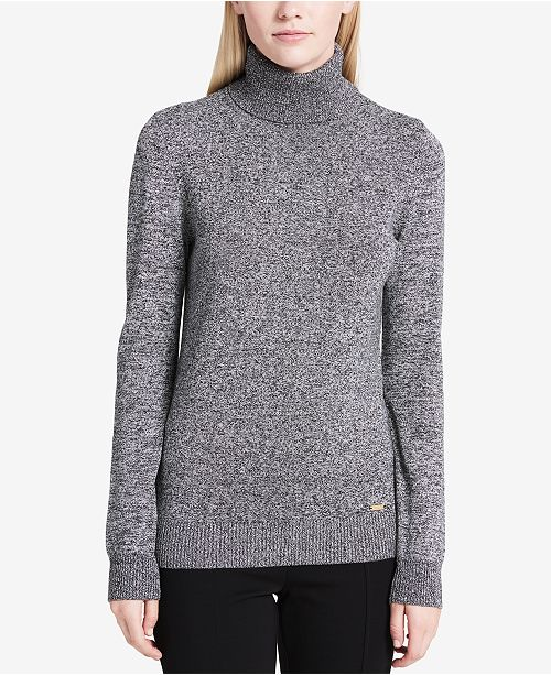 5936cbd2f06 Calvin Klein Marled Turtleneck Sweater  Calvin Klein Marled Turtleneck  Sweater ...