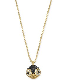 "Kate Spade New York  Gold-Tone Pavé Penguin Pendant Necklace, 16"" + 3"" extender"