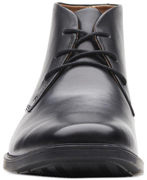 34783924ca7ef Clarks Men s Tilden Top Waterproof Dress Chukka Boots   Reviews ...