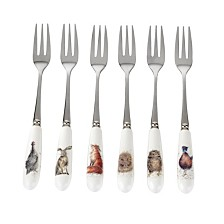 Portmeirion Wrendale Pastry Forks Set of 6
