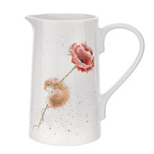 """Portmeirion Wrendale 2 pt. Mouse Pitcher """"Mouse and Poppy"""""""