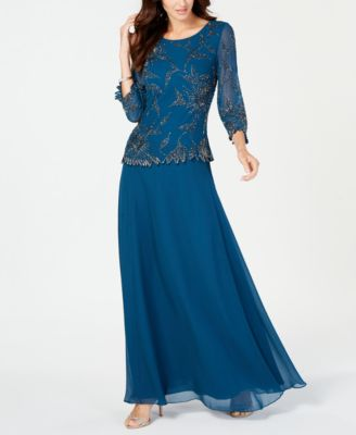 J Kara Beaded Overlay Gown \u0026 Reviews