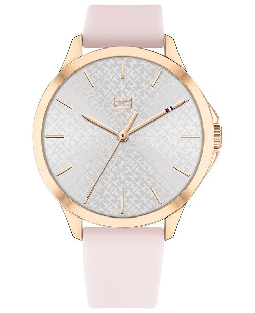Tommy Hilfiger Women's Blush Silicone Strap Watch 38mm, Created for Macy's