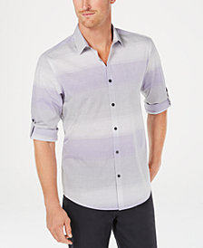 Alfani Men's Regular-Fit Ombré Stripe Shirt, Created for Macy's