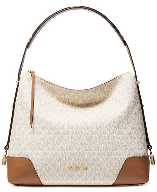 cbaf38ffe65405 Michael Kors Crosby Signature Shoulder Bag & Reviews - Handbags ...