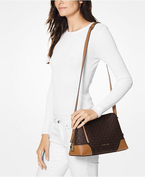 65982d007639 Michael Kors Crosby Signature Messenger Shoulder Bag & Reviews ...