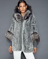 222ffb7b The Fur Vault Fox-Fur-Trim Rabbit Jacket