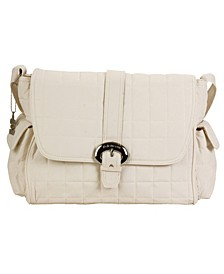 Featherweight Quilted Buckle Diaper Bag