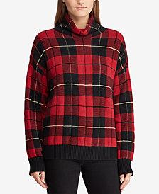 Lauren Ralph Lauren Funnel-Neck Checked Sweater