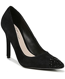 Affection Women's Embellished Toe Cap Pumps