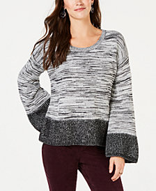 Style & Co Petite Colorblock Boxy Pullover Sweater, Created for Macy's