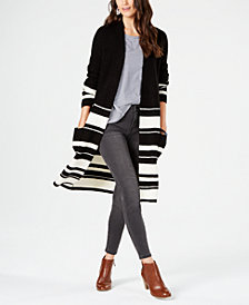 Style & Co Striped Duster Cardigan, Created for Macy's