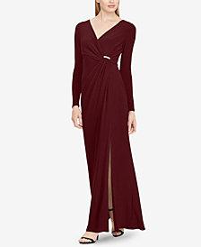 Lauren Ralph Lauren Shirred Jersey Gown