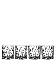 City Double Old-Fashioned Glasses, Set of 4