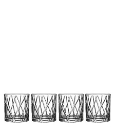 Orrefors City Double Old-Fashioned Glasses, Set of 4