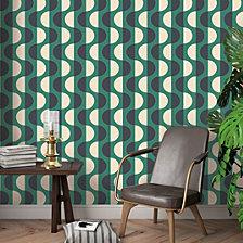 Tempaper Luna Emerald Self-Adhesive Wallpaper