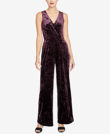 RACHEL Rachel Roy Velvet Jumpsuit, Created for Macy's