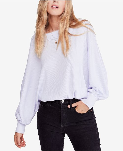 05439ead8074c7 Free People Willow Off-The-Shoulder Thermal Top   Reviews - Tops ...