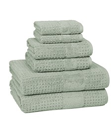Cassadecor Checkered 100% Turkish Cotton 6-Pc. Towel Set