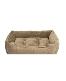 Arlee Lounger and Cuddler Style Pet Bed, Medium