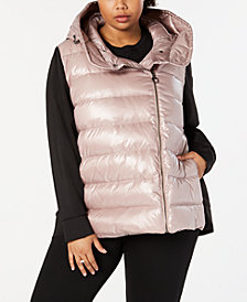 Calvin Klein Performance Plus Size Quilted Hooded Down Jacket