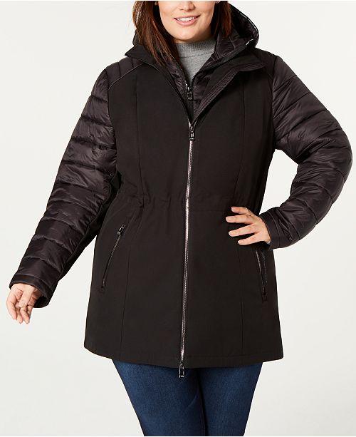 ecae7e3e330 Calvin Klein Plus Size Hooded Jacket - Jackets   Blazers - Plus ...