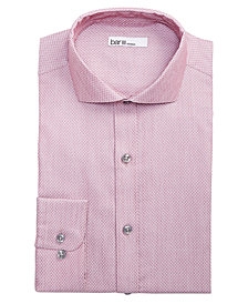 Bar III Men's Slim-Fit Stretch Connected Diamond Dobby Dress Shirt, Created for Macy's