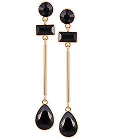 GUESS Gold-Tone Stone Linear Drop Earrings