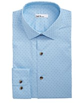 cf86d462 Bar III Men's Classic/Regular Fit Stretch Polka Dot Dress Shirt, Created  for Macy's