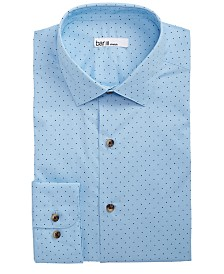 Bar III Men's Classic/Regular Fit Stretch Polka Dot Dress Shirt, Created for Macy's