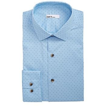 Bar III Men's Classic/Regular Fit Stretch Polka Dot Dress Shirt