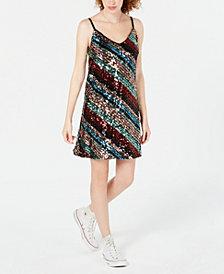 As U Wish Juniors' Sequined A-Line Dress