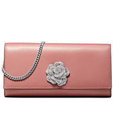 MICHAEL Michael Kors Bellamie Polished Leather Clutch