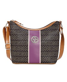 Giani Block Signature Stripe Hobo, Created for Macy's